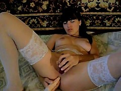 Russian girl anal and pussy sex toy show